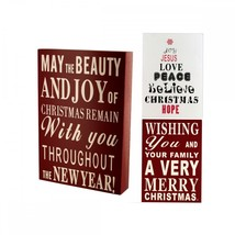 Wood Block Christmas Sign OF555 - $55.58