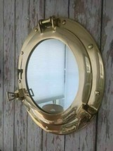 "8""  Wall Decor Ship Cabin Brass Porthole Mirror Nautical Maritime - $54.99"