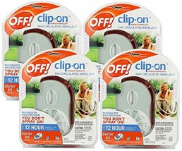 -4 PACK-  Off! Clip-on Mosquito Repellent Fan Starter Circulating Kit NEW - $25.95