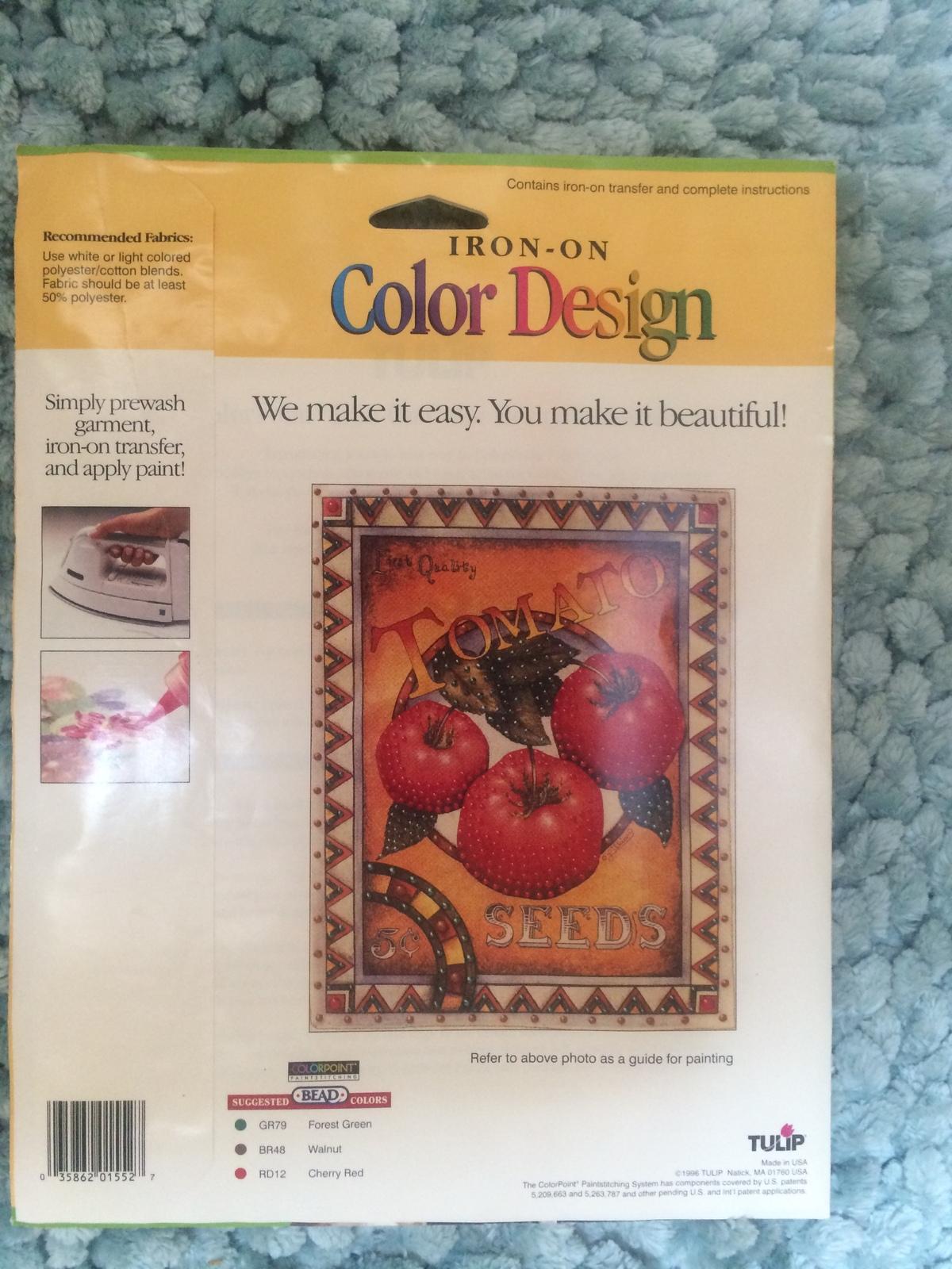 Tulip brand Iron on transfers  -  CCT44 Tomato Seeds  by Lillian Egleston 1996