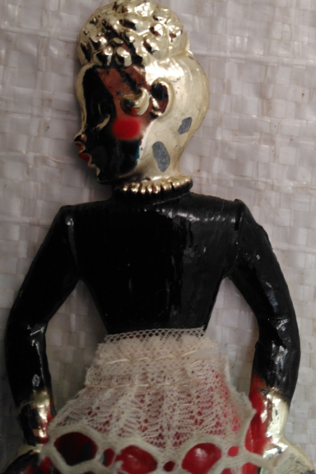 Vintage Metal Bar Maid Lady Burlesque Risque'  Dancer Bottle Can Opener Rare!