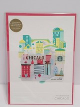 Starbucks 2016 Chicago Christmas Holiday Gift Card Limited Edition - $13.06