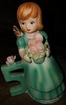 Vintage 1979 birthday girl Angel figurine by Russ Berrie & Company #1036 - $12.50
