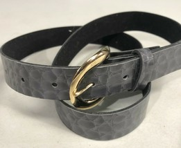 "Womens Size 14 Gray Marbled Faux Leather 1.25"" Wide Fashion Belt  - $13.75"