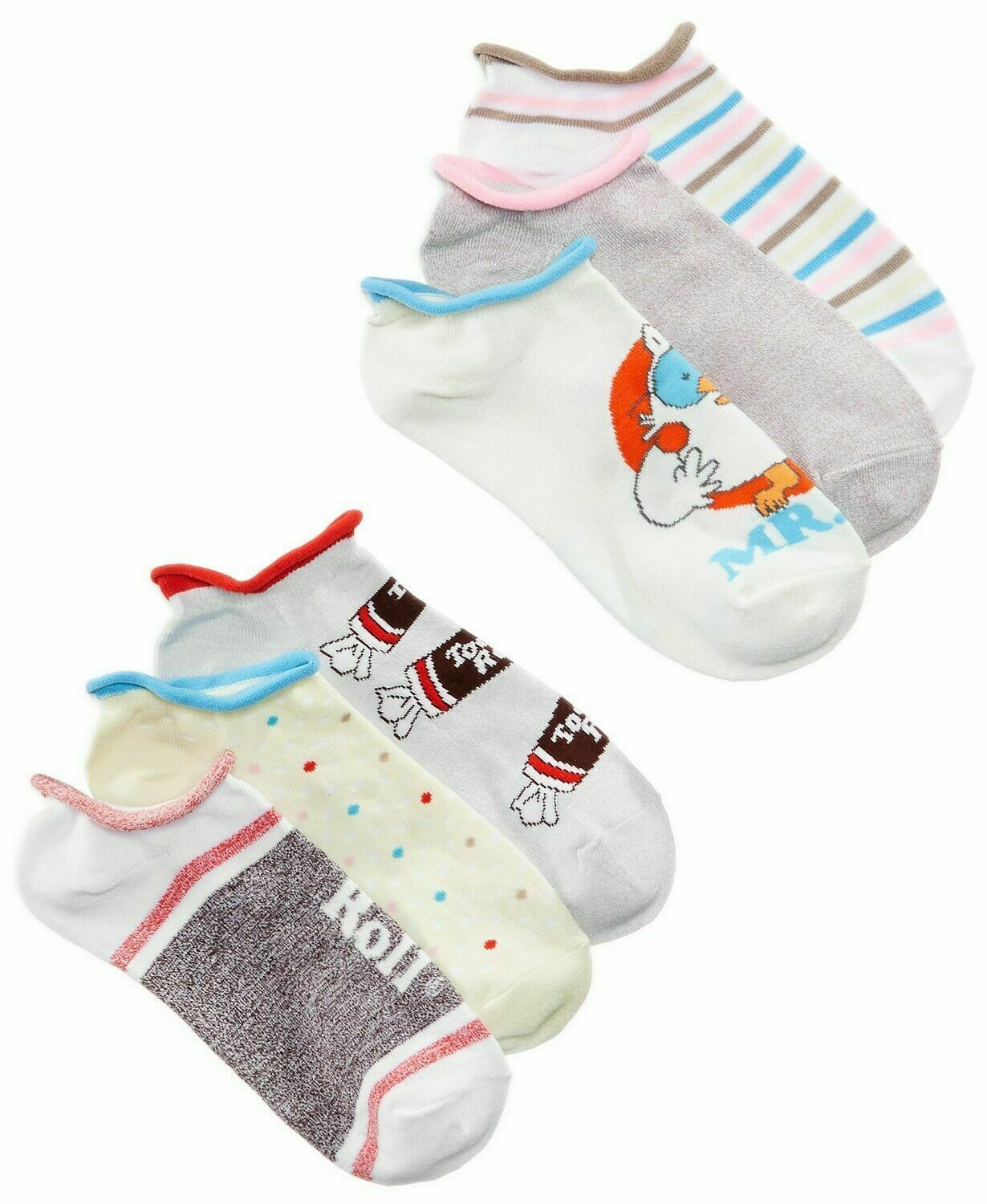 Primary image for Disney Women's 6-Pk Assorted Candy No-Show Socks, Size 9-11