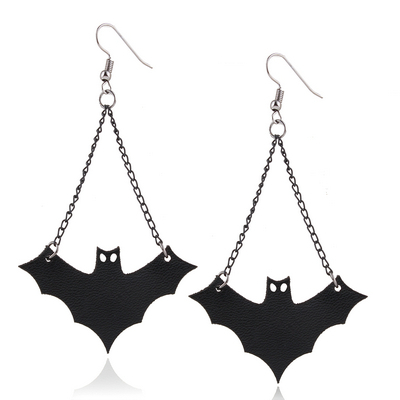 Fashion Black Rhinestone Bat Choker Necklace For Women Accessories Lace Choker N