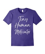 New Shirts - Tiny Human Motivator Shirt Fun Cute Elementary Teacher Shir... - $19.95+