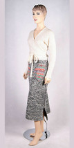 SKIRT WOOL KNITTED WINTER LONG POCKET ASYMMETRICAL LINED MID-CALF MADE I... - $239.00