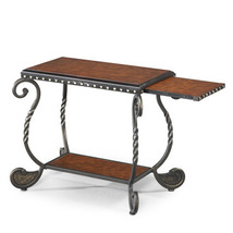 Steve Silver Rosemont Chairside End Table w/ Slide-Out Shelf in Cherry - $167.79