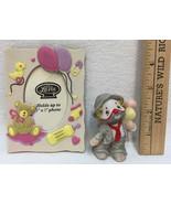 Clown Ceramic Figurine Hobo Lil Vagabond & Baby Picture Frame Bear Ballo... - $10.88