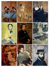 Printable Vintage Edgar Degas Digital Collage Sheet  Clip Art  ATC  JPEG... - $2.50