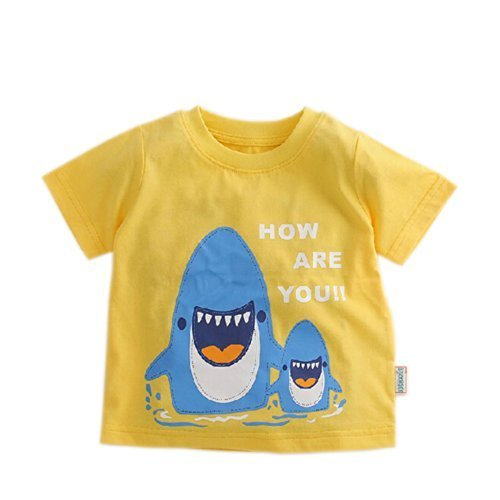 Shark Pure Cotton Infant Tee Baby Toddler T-Shirt YELLOW 80 CM (9-12M)