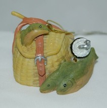 Ganz EX4651 Christmas Ornament Fishing Basket Fish 1 Inch - $9.99