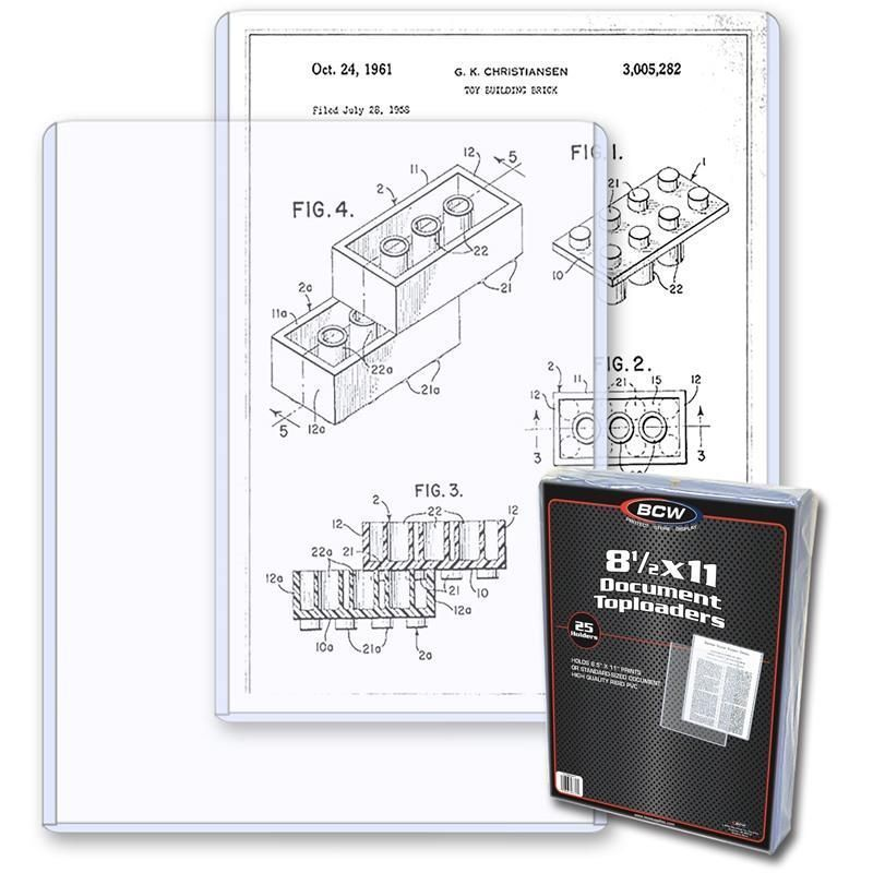 10 Bcw 8.5x11 Topload Document Holder