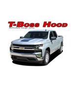 2019 2020 Chevy Silverado TRAIL BOSS Center Hood Decal Vinyl Graphic Str... - $134.99