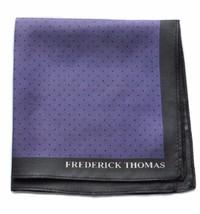 Frederick Thomas 100% SOIE VIOLET & noir à pois pochette mouchoir ft1656