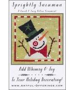 Sprightly Snowman cross stitch chart Artful Offerings  - $9.00