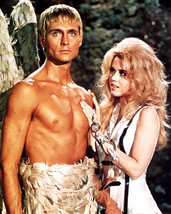 Jane Fonda John Phillip Law Barechested as Pygar Barbarella 16x20 Canvas - $69.99