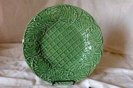 "Bordallo Pinheiro Leaf Service Green Chop Plate/Round Platter 13"" - $20.24"