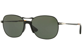 Persol Mens Sunglasses PO2449S 107831 Black/Green Lens 56mm - $133.86