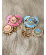 Colorful Angelwings Pacifier and clip - $60.00