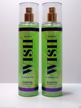 2 Bath & Body Works VANILLA WISH APPLE FIZZ  DIAMOND Shimmer Mist 8 oz NEW - $18.99