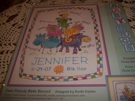 Dimensions Farm Friends Birth Record Cross Stitch Kit - $25.00