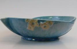Roseville Pottery Wincraft Console Bowl  226-8 Azure Blue Glaze Vintage USA - $84.15