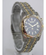 Seiko women watch gray dial kinetic calender case sapphlex crystal SWP176P1 - $361.62