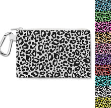 Bright Leopard Print  Canvas Zip Pouch - $15.99+