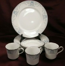 "9 Piece Lenox White Heather 10"" Dinner Plates,  Bread Plates, 3 Cups Bundle of 9 - $34.53"