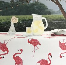 "Envogue Pink Flamingo Indoor/Outdoor Tablecloth 70"" Round - $34.00"