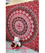 Indian Mandala Double Tapestry Wall Hanging Bedspread Throw Ethnic Decor FS - $25.73