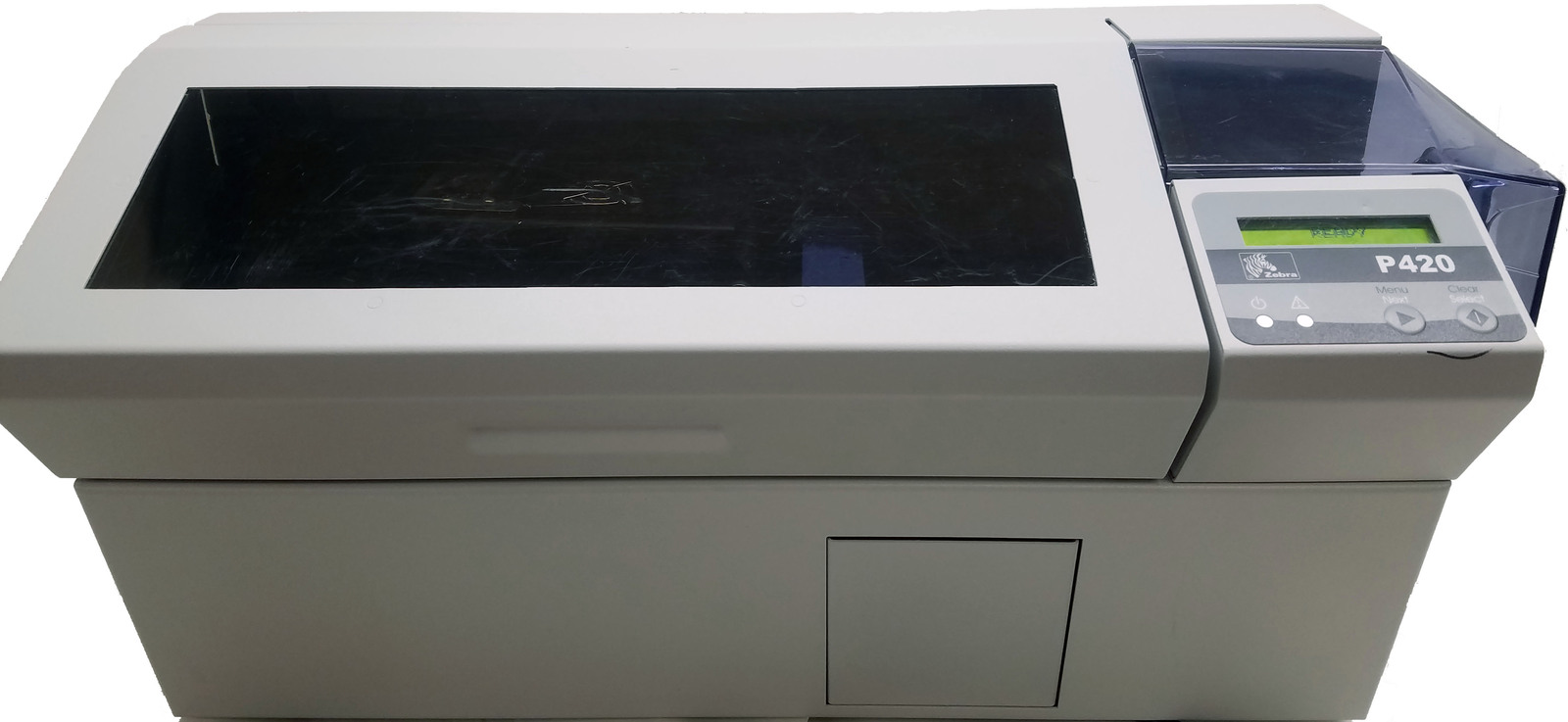 Zebra P420C Thermal Transfer Plastic Card Printer Bin:2