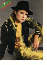 Corey Feldman Alyssa Milano teen magazine pinup clipping white cowboy shirt