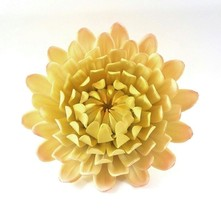 BIJAN Handcrafted Yellow Pink 5in Mum Ceramic Flower for Crafts Sculptur... - $9.50