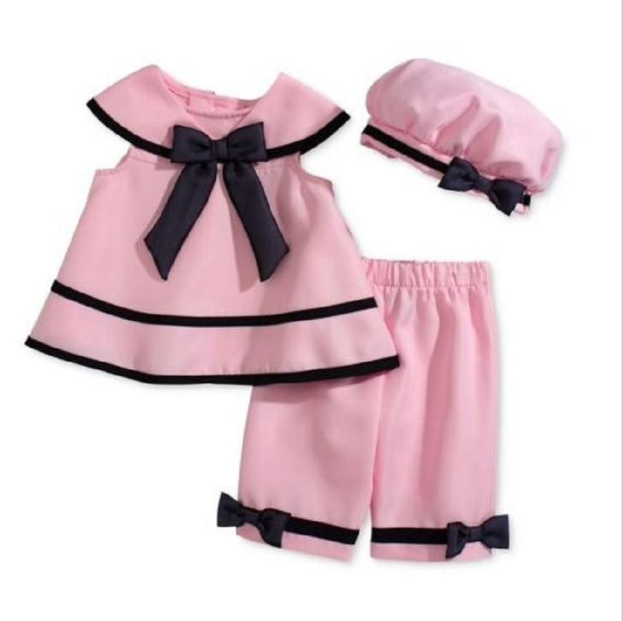 Rare Editions Baby Girls' Pink 3-Piece Pant Suit, 18 Months - $19.79