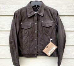 Harley Davidson Women Motor Cycle Genuine Leather Stampede Brown Jacket ... - $321.75