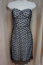 Cynthia Steffe Dress Sz 4 Rich Black Ivory Strapless Evening Cocktail Dress - $158.35