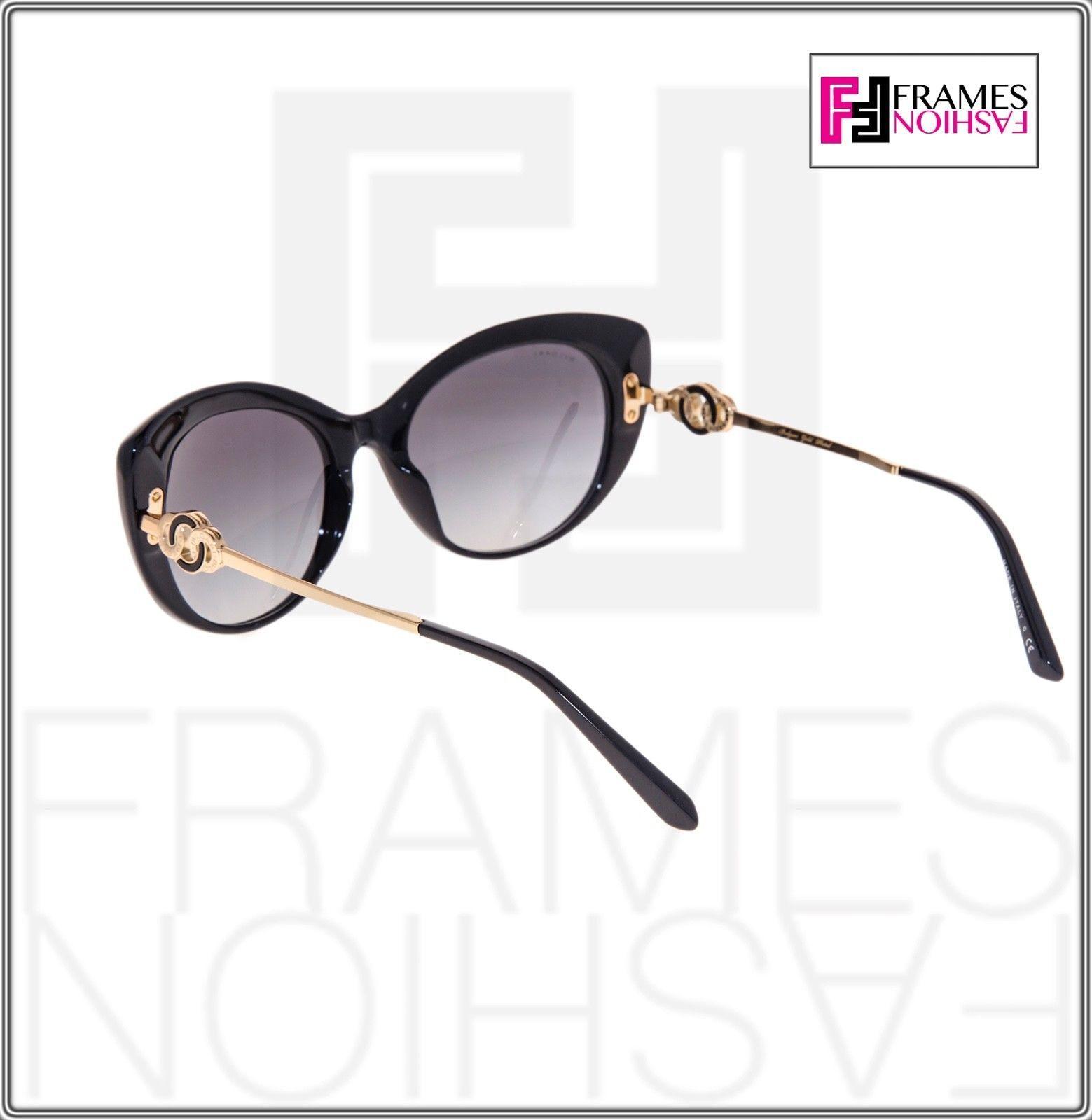 BVLGARI Le Gemme BV 8141K  Black Rose 18K Gold Plated Edition Cat Eye Sunglasses