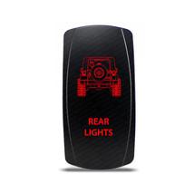 Rocker Switch Jeep Wrangler JK Rear Lights Symbol - Red LED - $16.44