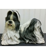 SHIH TZU Dog Statue Large Figurine Resin Indoor Outdoor Yard Lawn Orname... - $67.23