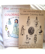 Vintage Kim's ANTIQUE DOLLS and Fontaine House SOUVENIR Coloring Books U... - $45.99