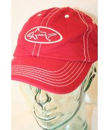 Greg Norman Golf Red White embroidered shark logo Dad Adjustable cap hat - $19.95