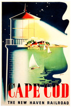 "18x24""CANVAS decoration.Room Interior art design.Cape Cod Mass.Lighthous... - $57.00"