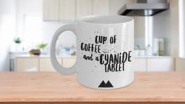 Twin Peaks Fan Gift Coffee Cyanide Tablet Big Ed Hurley White Mug Valent... - $14.65+