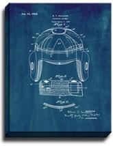Football Helmet Patent Print Midnight Blue on Canvas - $39.95+
