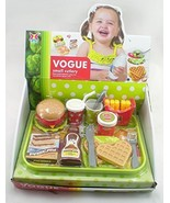 GIRL FUN TOYS Fast Food Hamburger Tray Kids Meal with Fries and Drink Toy - $5.99