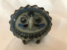 Unique Set of 2 Vintage Owl Figurines Hand Painted Very Detailed image 3