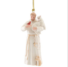 Lenox St Francis Of Assisi Figurine Ornament Patron Saint Of Animals Lam... - $44.55